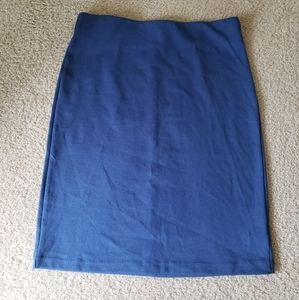 Pencil Skirt - midi - blue - Old Navy